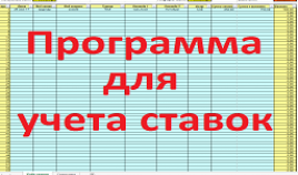 Программа для учета ставок