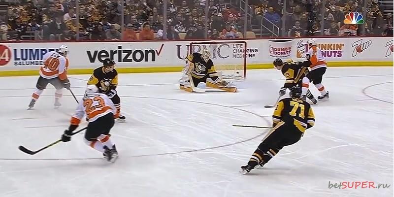 Командная игра в матчах НХЛ