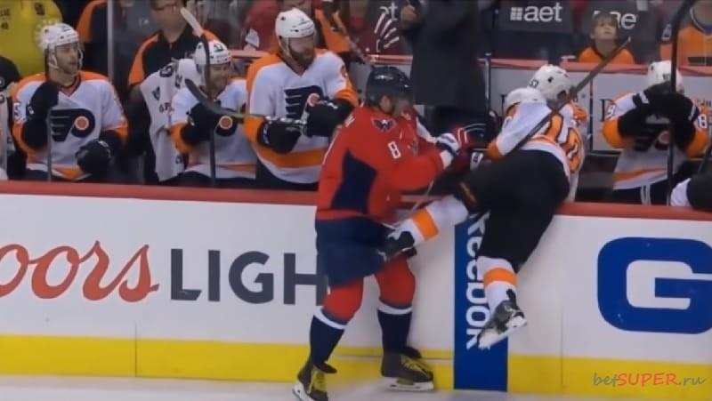 Жесткие столкновения в матчах НХЛ