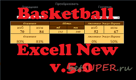 Программа Basketball Excell New v.5.0