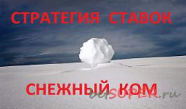 """Стратегия ставок """"Снежный ком"""""""