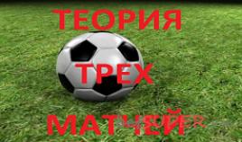 Теория трех матчей на футбол