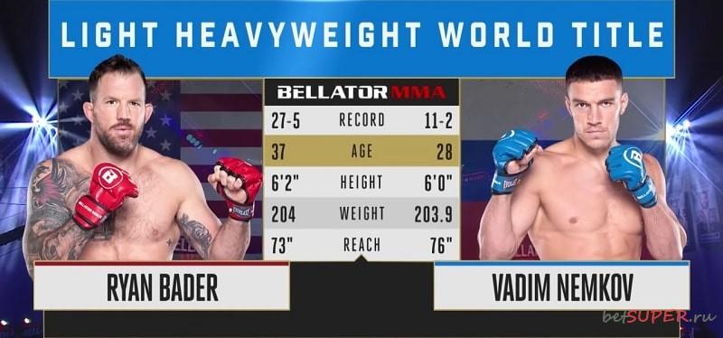 Бой Бейдер - Немков в UFC